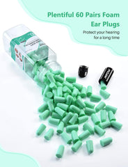 MPOW HP133A Ultra Soft Foam Earplugs, 60 Pairs, Upgraded, 38dB SNR
