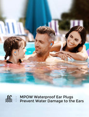 MPOW HP138A Ear Plugs 6 Pairs, Super Soft Silicone Ear Plugs, 28dB SNR