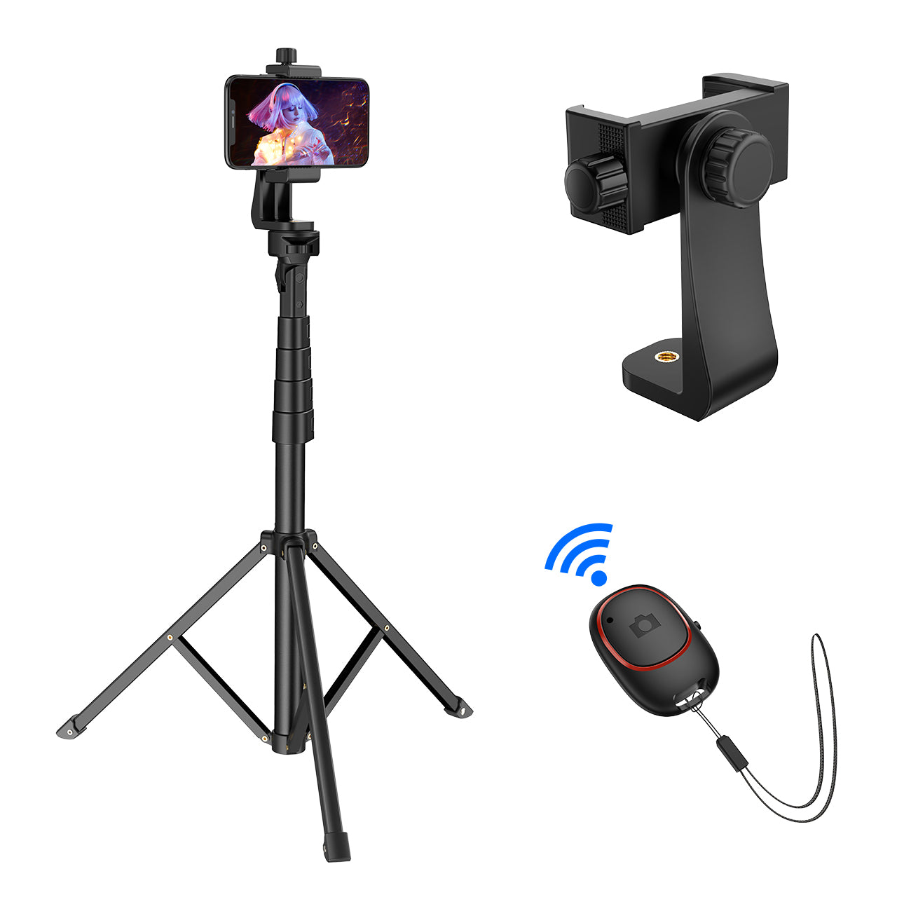 MPOW PA194B Selfie Stick & Tripod with Bluetooth Remote