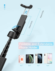 Mpow PA197A Selfie Stick Tripod with 360° Rotation, Bluetooth Remote Control