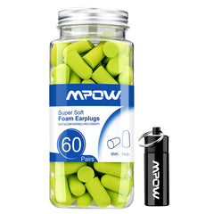 MPOW HP055A Foam Earplugs 60 Pairs with Aluminum Carry Case