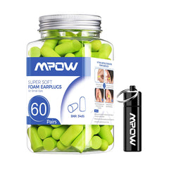 MPOW HP106A Small-Sized Earplugs with Aluminum Carry Case, 60 Pairs