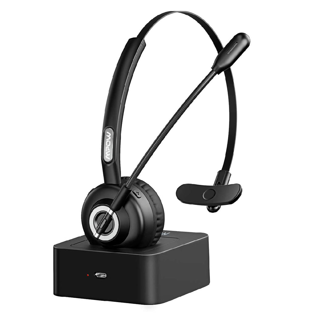 MPOW BH355A Bluetooth Headset with Charging Station