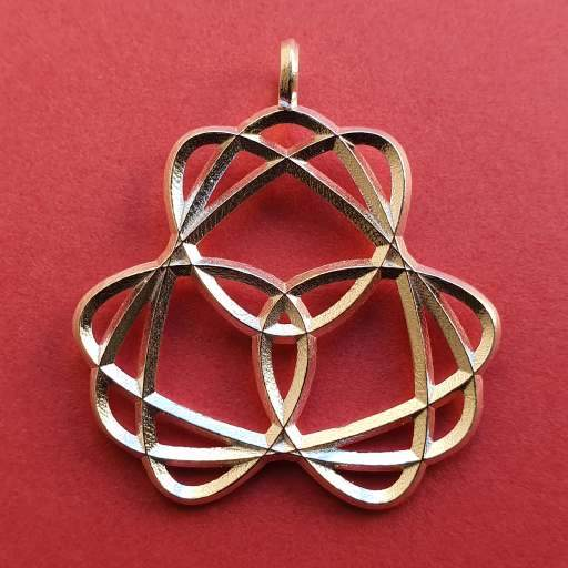 Knot Pendant Waltz in 925 Sterling Silver with eyelet