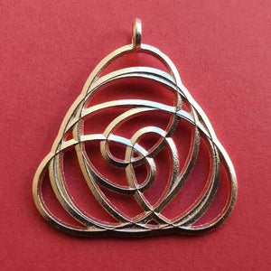 Knot Pendant Twist in 925 Sterling Silver with eyelet