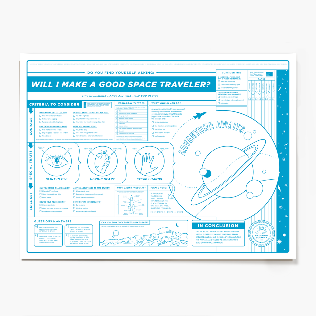 Space Traveler Novelty Poster