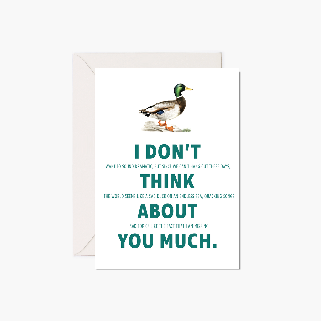 Miss You Card - Mallard Duck
