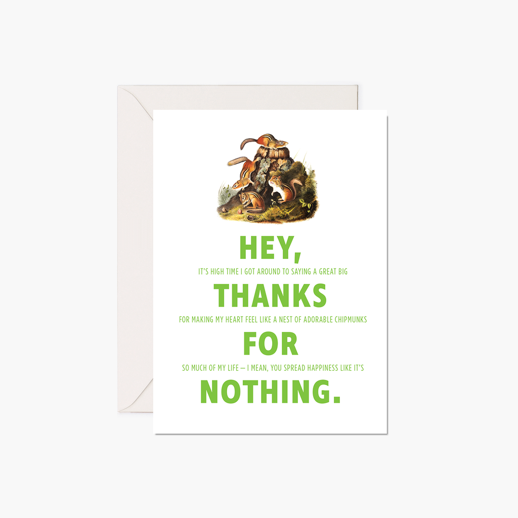 Thank You Card - Chipmunks