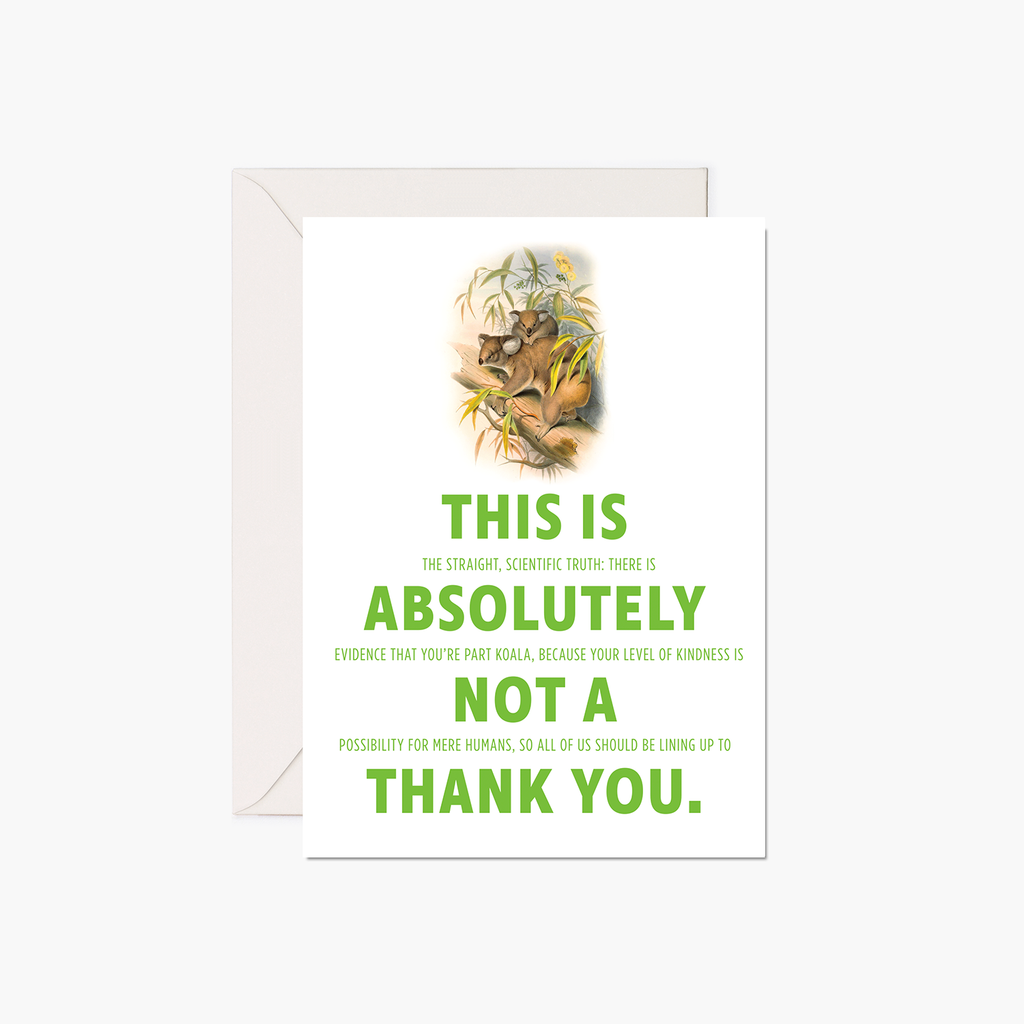 Thank You Card - Koalas