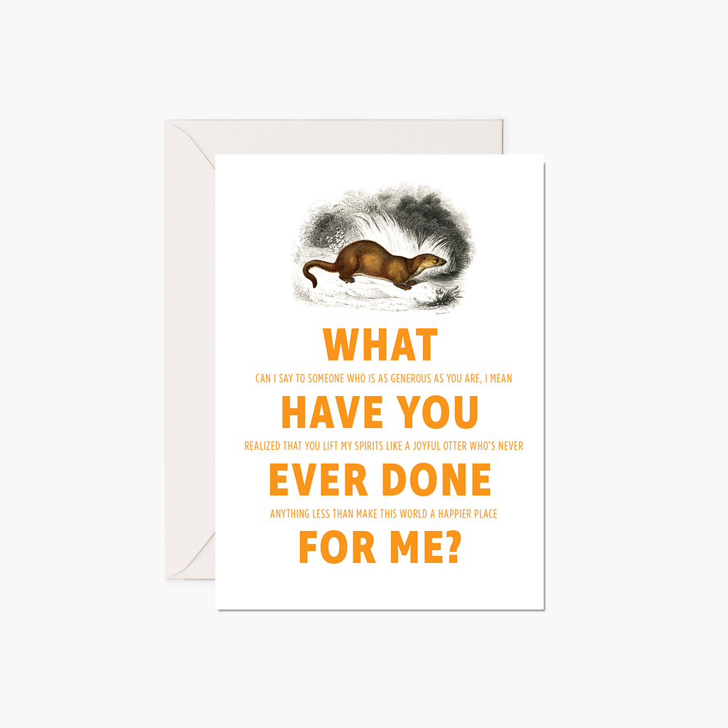 Thank You Card - European Otter