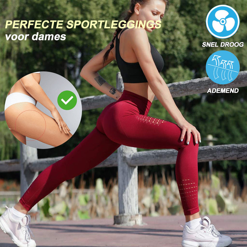 Ademende en Naadloze Sportleggings voor Dames