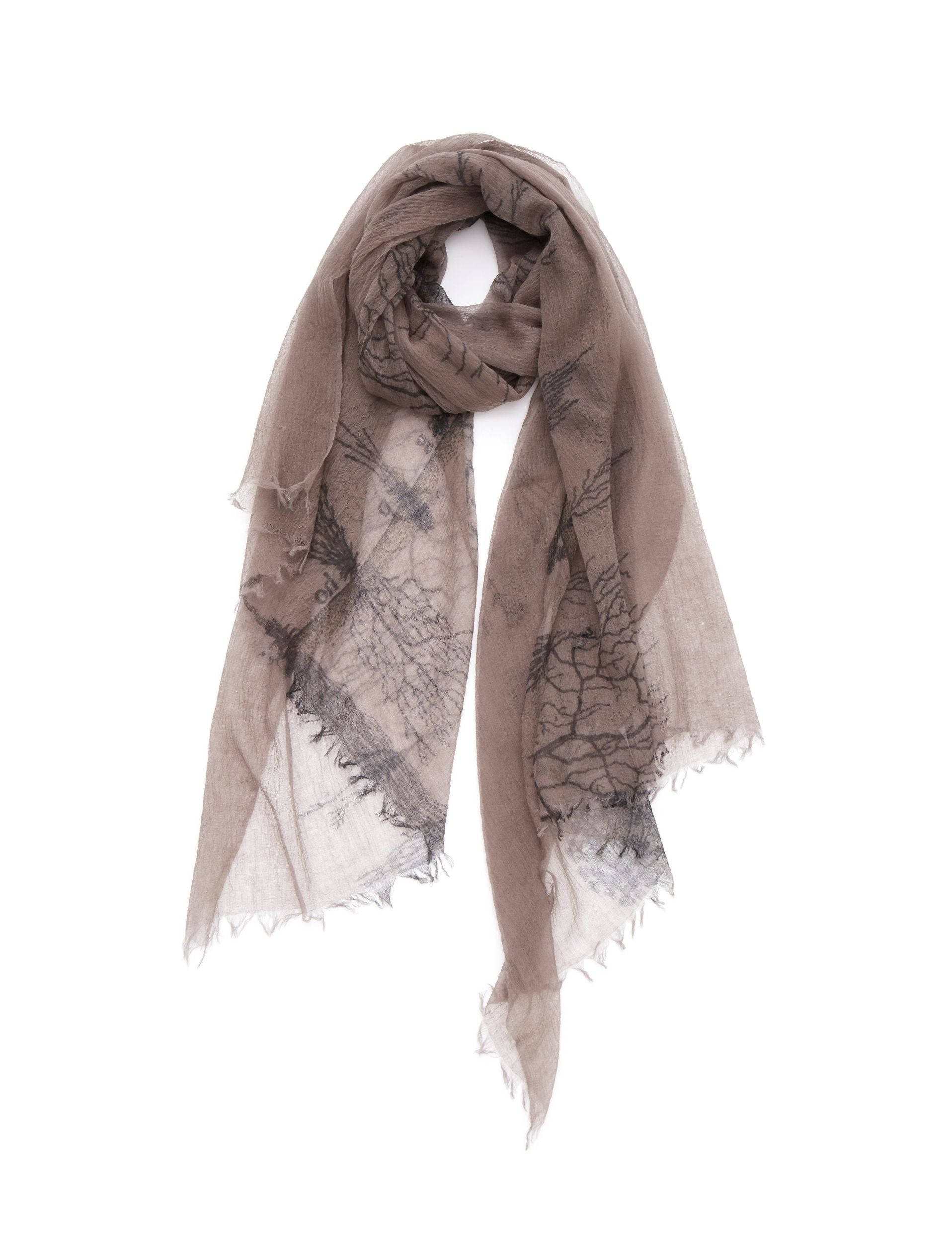 TERRA FIRMA CASHMERE PRINTED STOLE