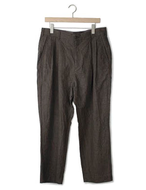 Open image in slideshow, LINEN PLEATED PANT