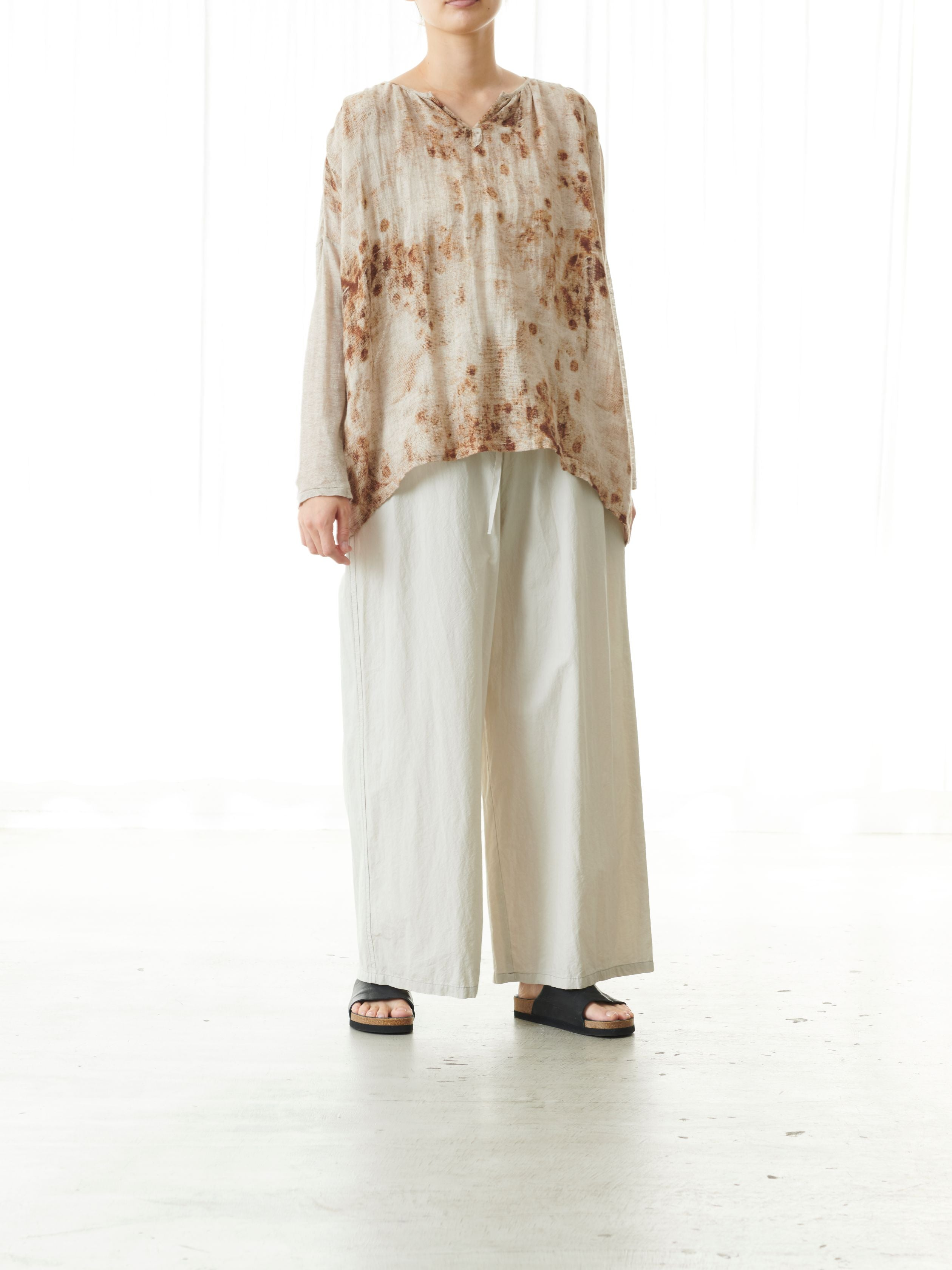 GREEK LINEN BLOUSE