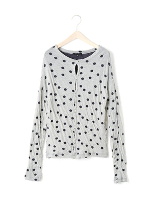 COTTON DOT CARDIGAN