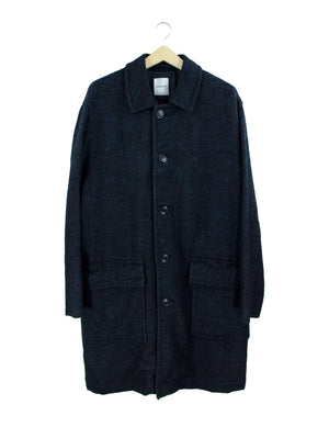 Open image in slideshow, CONVERTIBLE COLLAR LONG WOOL COAT