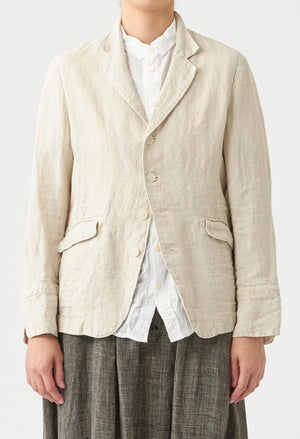 Open image in slideshow, CLASSIC MENSWEAR INSPIRED LINEN JACKET