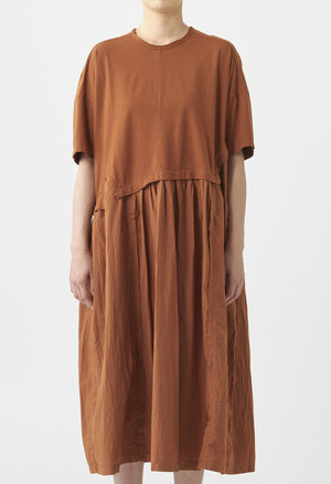 Open image in slideshow, JERSEY COTTON SHIRT DRESS