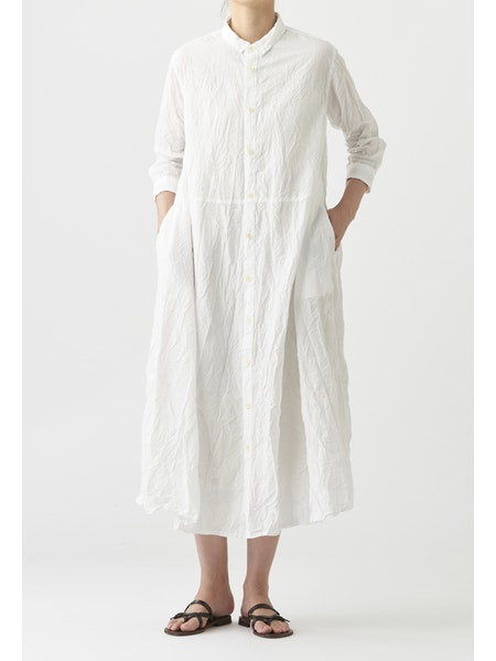 WRINKLE FINISH COTTON DRESS