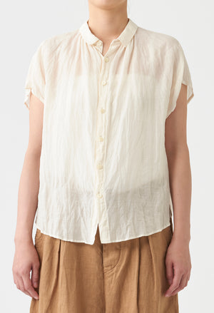 Open image in slideshow, NATURAL DYE SHORT SLEEVE BLOUSE