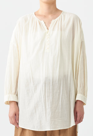 Open image in slideshow, COLLARLESS NATURAL DYE BLOUSE