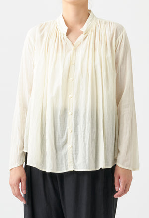 Open image in slideshow, NATURAL DYE GATHERED BLOUSE