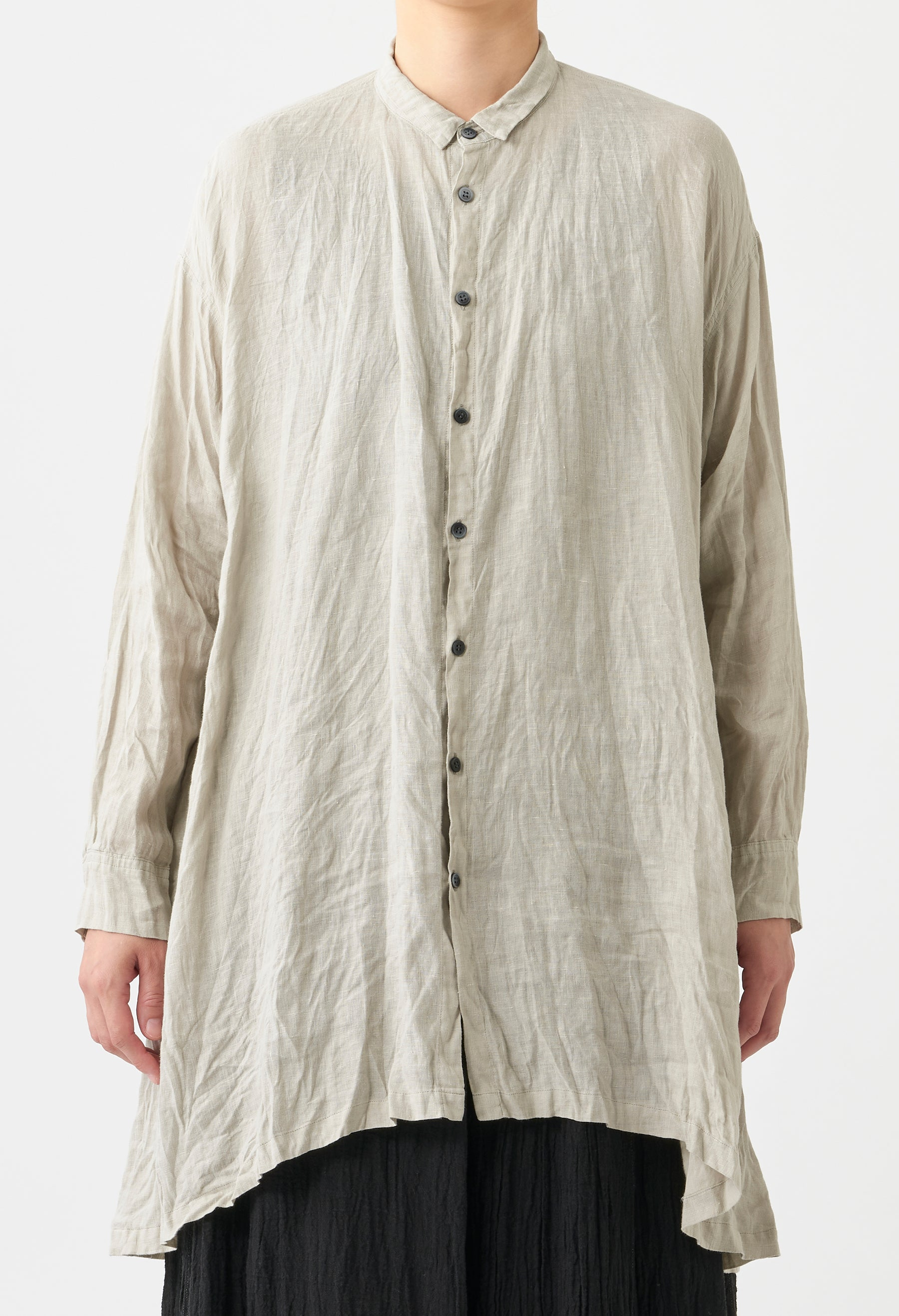 SOFT FINISH LINEN BLOUSE
