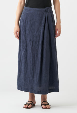 WASHED LINEN SKIRT