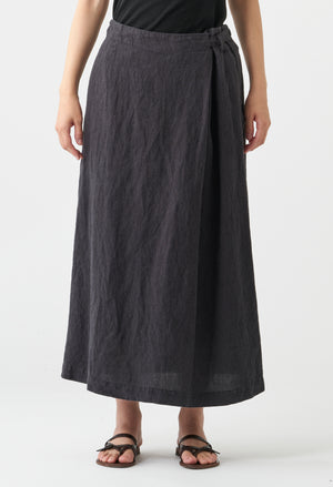 Open image in slideshow, WASHED LINEN SKIRT