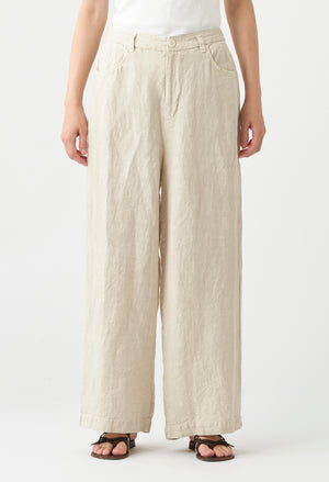 Open image in slideshow, CLASSIC RELAXED FIT LINEN PANT