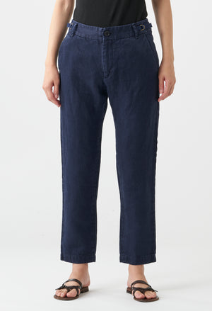 Open image in slideshow, WASHED CLASSIC LINEN PANT