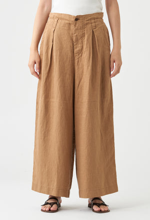 Open image in slideshow, WIDE LEG LINEN PANTS