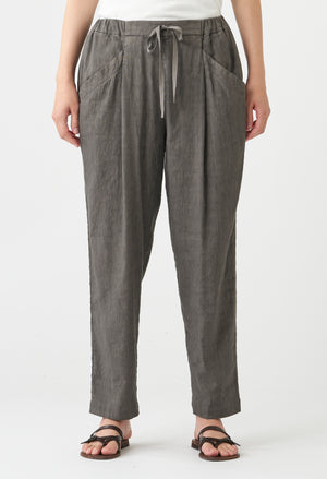 Open image in slideshow, TIED LINEN BLEND PANT
