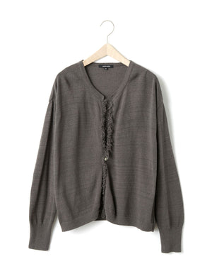 Open image in slideshow, LOOSE FRINGE CARDIGAN