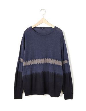 Open image in slideshow, ARIMATSU SHIBORI PULLOVER SWEATER