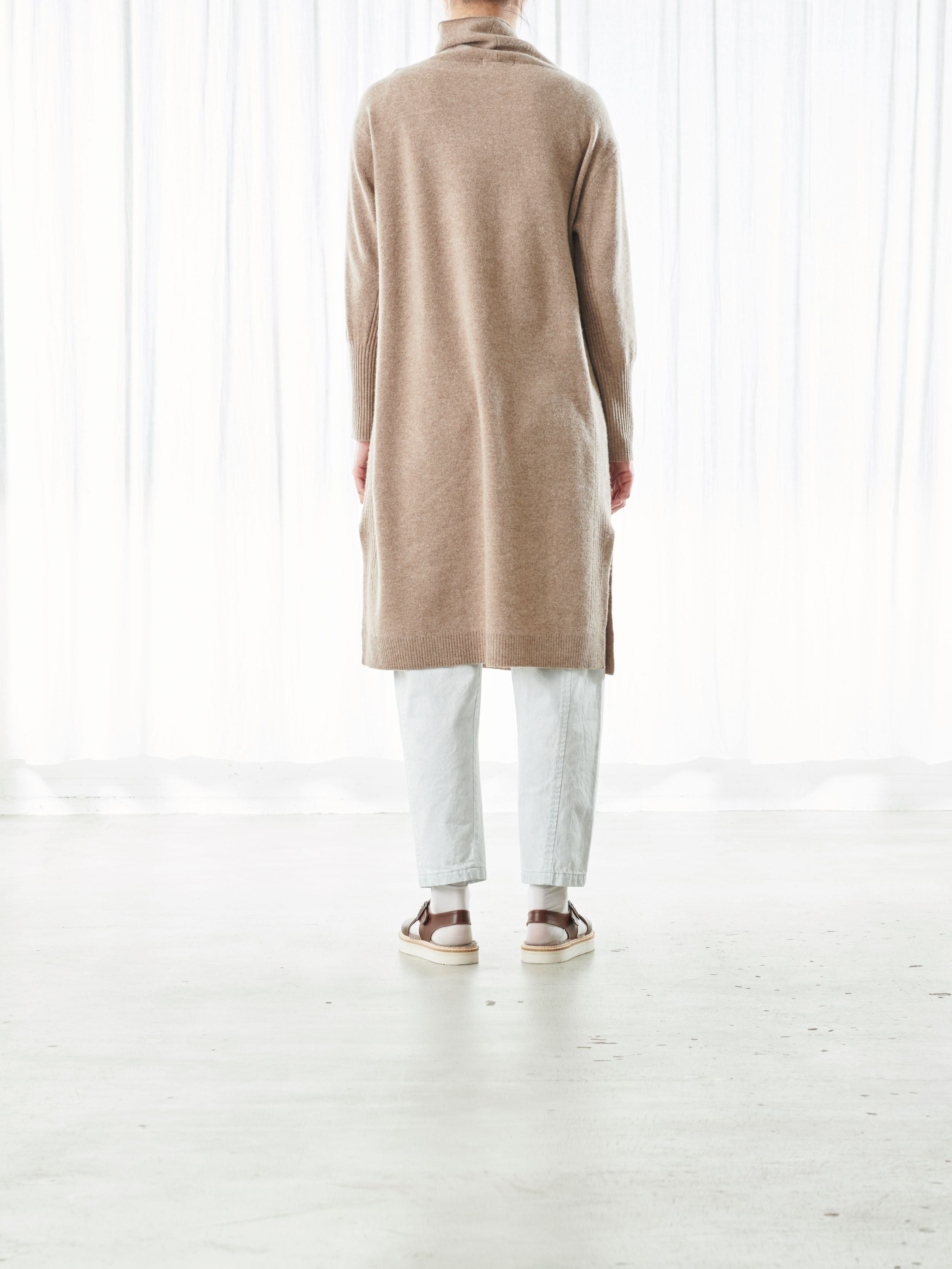 CASHMERE BLEND LONG PULLOVER