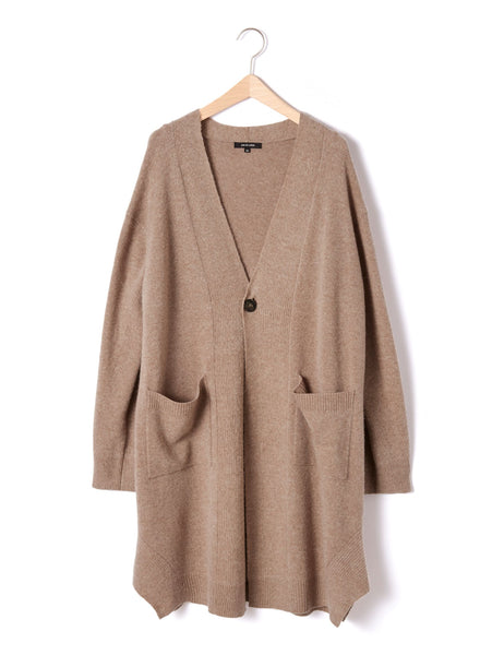 WOOL/CASHMERE LONG CARDIGAN