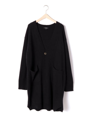 Open image in slideshow, WOOL/CASHMERE LONG CARDIGAN