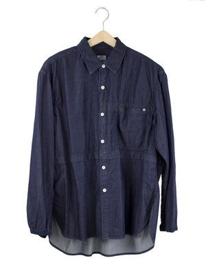 Open image in slideshow, FOLD OVER DENIM SHIRT