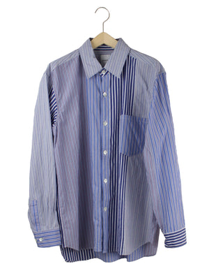 Open image in slideshow, MIXED STRIPE BUTTON DOWN