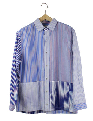 Open image in slideshow, STRIPE POCKET BUTTON DOWN