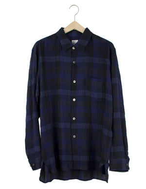Open image in slideshow, EASY PLAID BUTTON DOWN