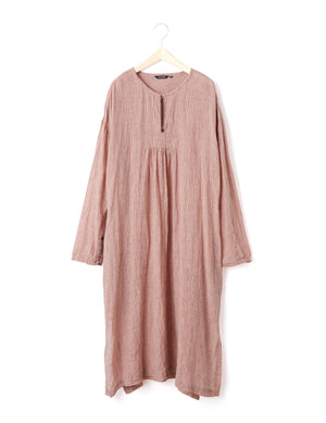 Open image in slideshow, LINEN GAUZE DRESS