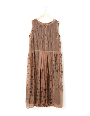 Open image in slideshow, SHEER SPARKLE DRESS (RUST)