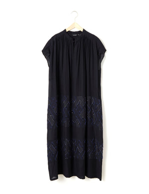 Open image in slideshow, JACQUARD EMBROIDERED DRESS