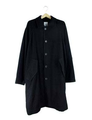 Open image in slideshow, CONVERTIBLE COLLAR COAT