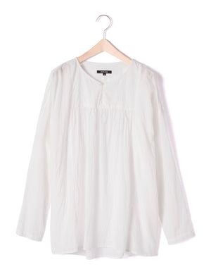 Open image in slideshow, COLLARLESS UNTWISTED BLOUSE