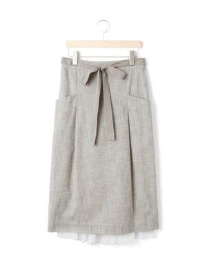 Open image in slideshow, COTTON POCKET SKIRT