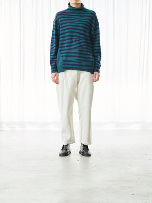 TAPERED HERRINGBONE PANT