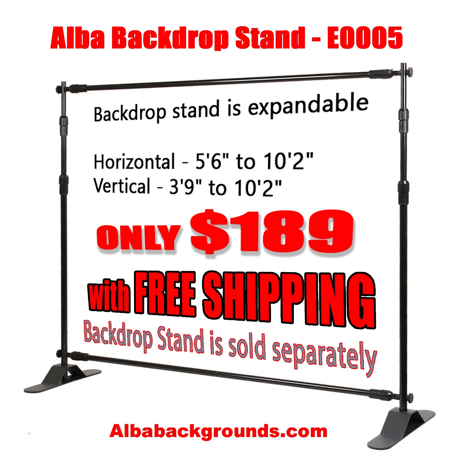 Backdrop Stands | Alba Backgrounds